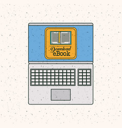ebook and laptop gadget design vector image