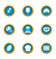 Establishment icons set flat style vector