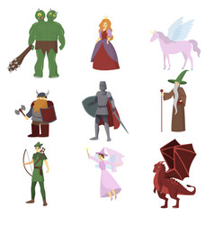 fantasy rpg game heroes fantasy magic wars vector image