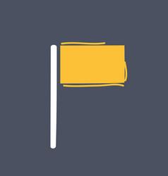 flag icon hand drawn vector image