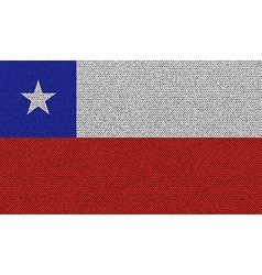 Flags Chile on denim texture vector