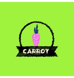 Flat icon design collection carrot emblem vector
