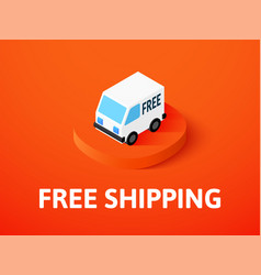 free shipping isometric icon isolated on color vector image