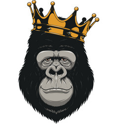 Funny gorilla head vector