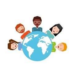 global network friends vector image