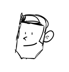 Guy face draw vector