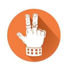 hand in rock gesture symbol vector image