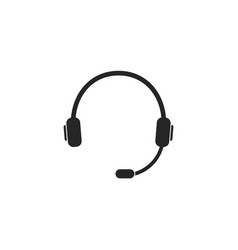 headphone with microphone icon of headset vector image