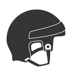 helmet hockey goalkeeper vector image