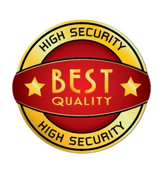 High Security Best Quality Logo isolated on white vector image