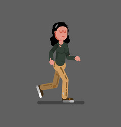 Homeless girl runing vector