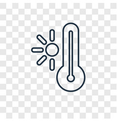 hot concept linear icon isolated on transparent vector image