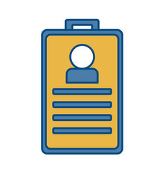 Id card icon vector