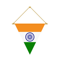 indian triangle flag hanging vector image