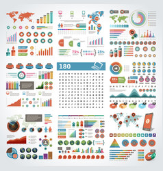 infographics design templates set charts vector image