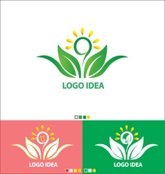 Logo IDEA set design vector image