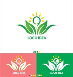 Logo IDEA set design vector image