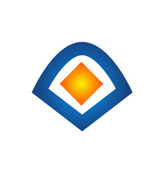 logo out box icon element template design logos vector image