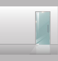 modern glass door is a tree and transparent glass vector image