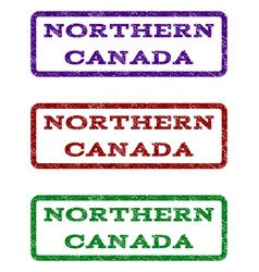 Northern canada watermark stamp vector