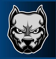 Pitbull dog head logo icon vector