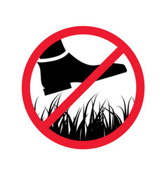 Please stay off lawn prohibited keep off vector