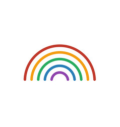 rainbow color icon line weather symbol iso vector image