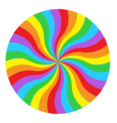 rainbow round spiral circle background flag of vector image