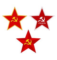 red soviet star vector image