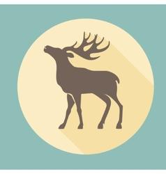 - Running Deer vector image