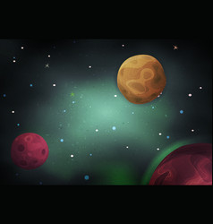 Scifi space background for ui game vector