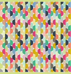 seamless halves rounds colourful small vector image