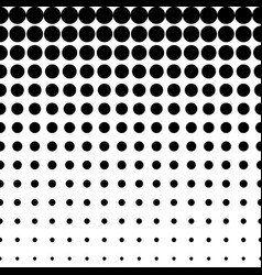 Seamless pattern circles halftone transition vector