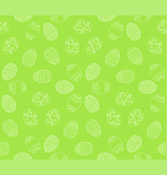 seamless simple pattern with easter eggs easter vector image