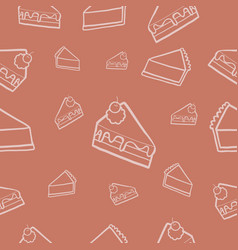 seamlesspattern cake vector image