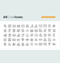 set premium concept icons vector image