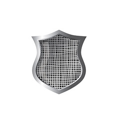 Silver theme protector shield vector