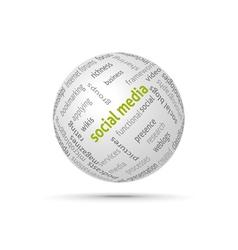 Social media globe vector