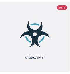 Two color radioactivity icon from science concept vector