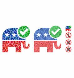 vote republican mosaic icon raggy elements vector image