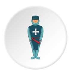 Warrior crusader icon cartoon style vector