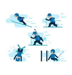 Winter games skiing vector