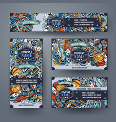 Winter sport hand drawn doodle corporate identity vector