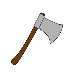 woodcutters ax isolated icon vector image