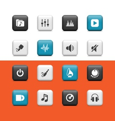 Audio Media buttons vector image vector image