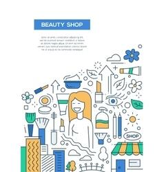 Beauty Shop - line design brochure poster template vector image vector image