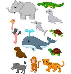 Cartoon wild animals vector image vector image