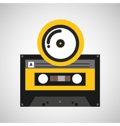 cd compact music cassette tape vector image