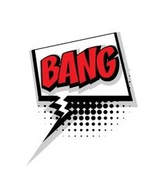 Comic text bang pop art bubble vector image vector image