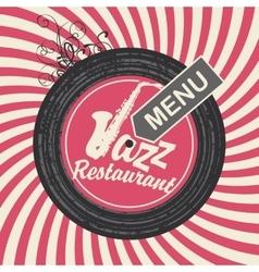jazz restaurant menu vector image vector image